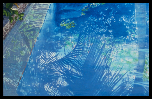 Palm and Reflections, 1989, Oil on Canvas, 70x49""