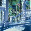 Patrick's Front Porch, 1988, Oil on Canvas, 50x88""